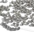 20 шт./лот 6 мм тибетские античные серебряные полые шарики металлические бусины для изготовления ювелирных изделий DIY браслет Nekclace