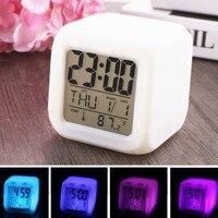Rectangle Small Bed Compact Travel Quartz Beep Alarm Clock Fashion Bedside Lamp Music Kit Alarm Retro Mini Bed Klok ##3|Despertadores|   -