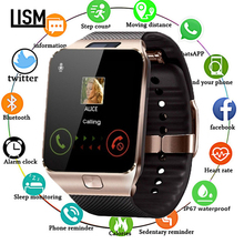 LISM Bluetooth Smart Phone Watch Latest DZ09 Camera SIM Slot for Huawei Xiaomi Samsung/Android