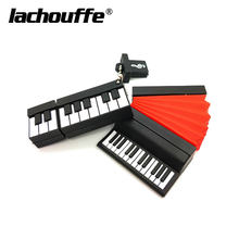 cartoon piano pendrive usb flash drive 4GB 8GB 16GB 32GB 64GB accordion flash usb memory stick pendrive 128gb thumb drive disk(China)