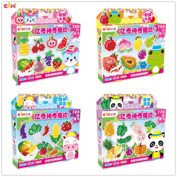 EAKI Magic Beads Spray Water Fruit Theme Childrens DIY Educational Toys Classic Toy Puzzle Crafts for Kids