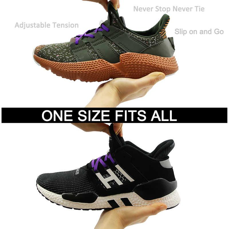 1 par de cordones de cierre magnético elástico sin cordones de zapatos para niños adultos Unisex zapatillas planas cordones de cordones perezosos rápidos cordones