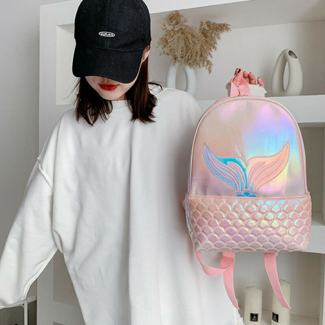 2020 nouveau sirène Sequin sacs à dos femmes dames en cuir PU école brillant voyage étudiant adolescentes enfants femme sac à bandoulière