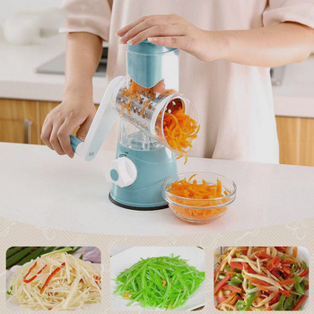 Hot New Multifunction Chopper Manual Rotating Grater Vegetable Fruit Cutter Kitchen Gadgets Tools