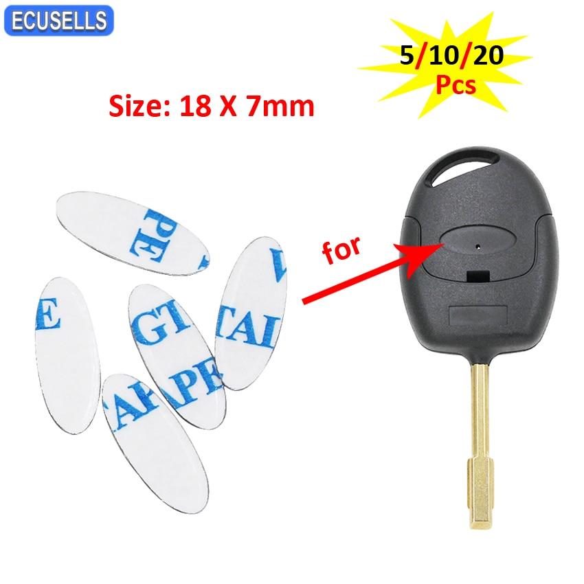 5/10/20 шт. 18X7mm Овальный ключа автомобиля логотип Стикеры 18X7mm наклейка с эмблемой для автомобиля Стикеры для Ford кнопки дистанционного управления