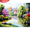 HUACAN DIY Oil Pictures By Numbers Tree Scenery Painting By Numbers Kits Drawing Canvas HandPainted Gift Home Decoration