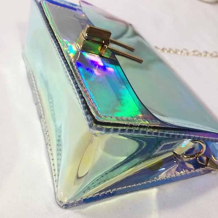 Mode Frauen Taschen Transparent Handtasche Kleine Mini Telefon Messenger Laser Schulter Tasche/BL1