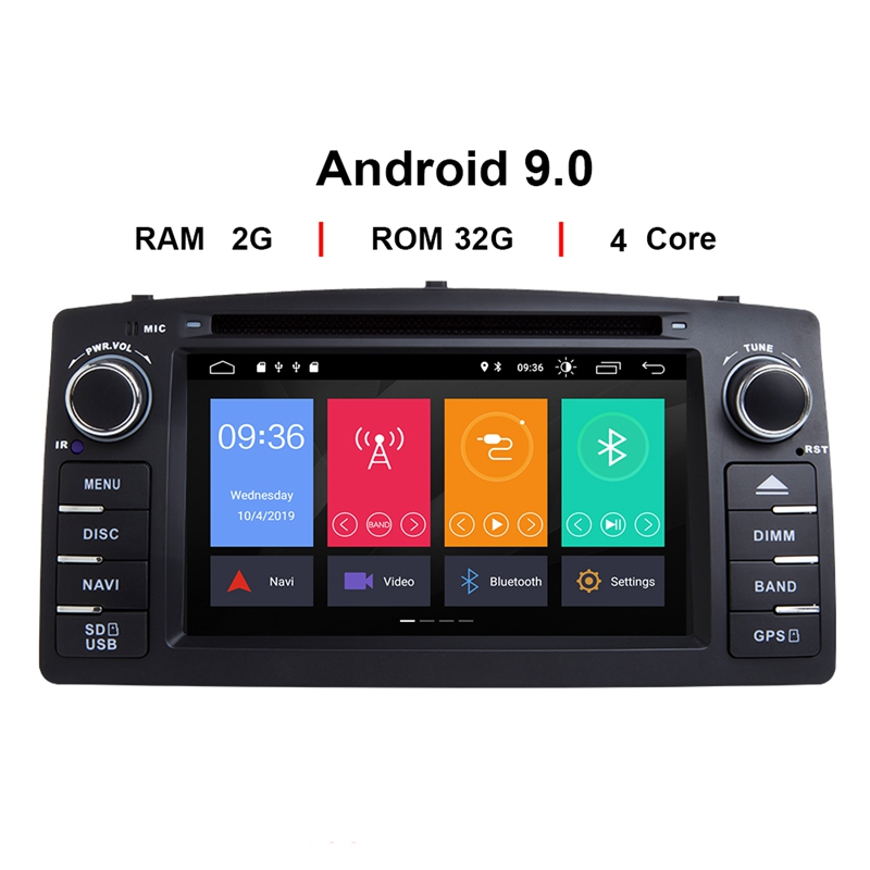 Android 9.0 Car DVD Player for Toyota Corolla E120 BYD F3 2 Din Car Multimedia Stereo GPS Auto Radio Navigation image