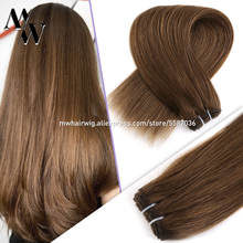 Hair-Weft Bundle Human-Hair-Extensions Remy-Hair MW Machine-Made Blond Black 100g/Pc