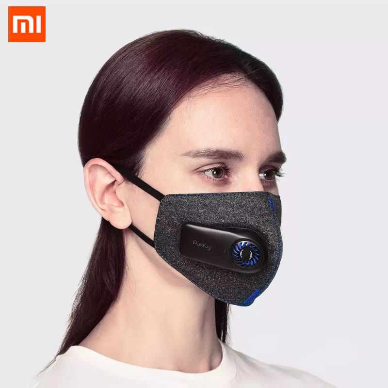 2020 New Xiaomi Mi Purely Anti-Pollution Dust Haze Sterilizing Electric Air Face Cover Active Air Supply Protective Outdoor