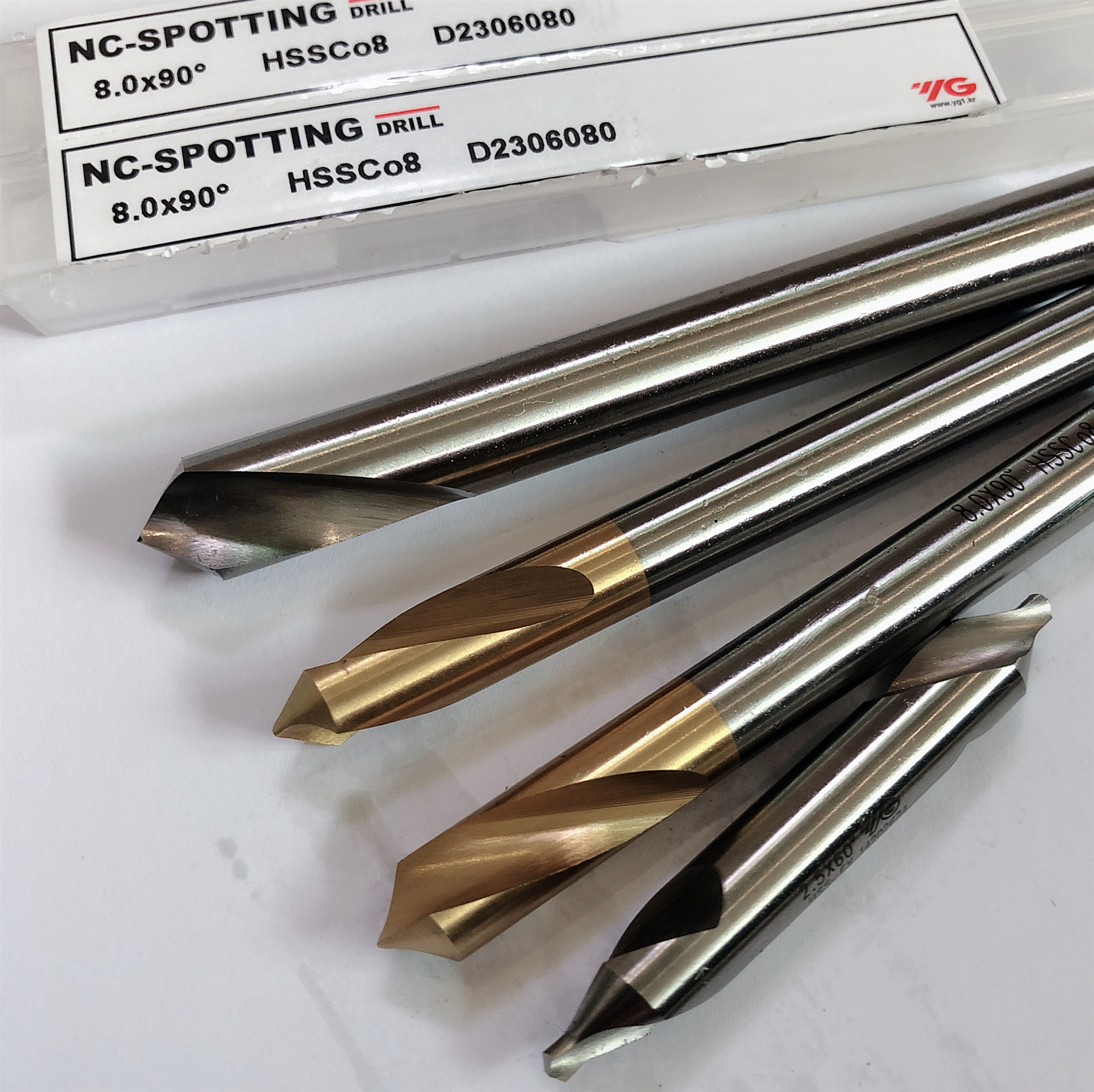 Korea YG-1 HSS-EX Co8 Center Drill 60 Degree  Combined 1-1.5-2-2.5-3-4-5mm  E Countersinks Angle Bit Set High Quality