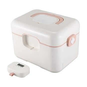 Household Portable Medicine Storage Box Comes with Alarm Clock to Remind Smart Portable Medicine Box Seal Dustproof Storage Fini