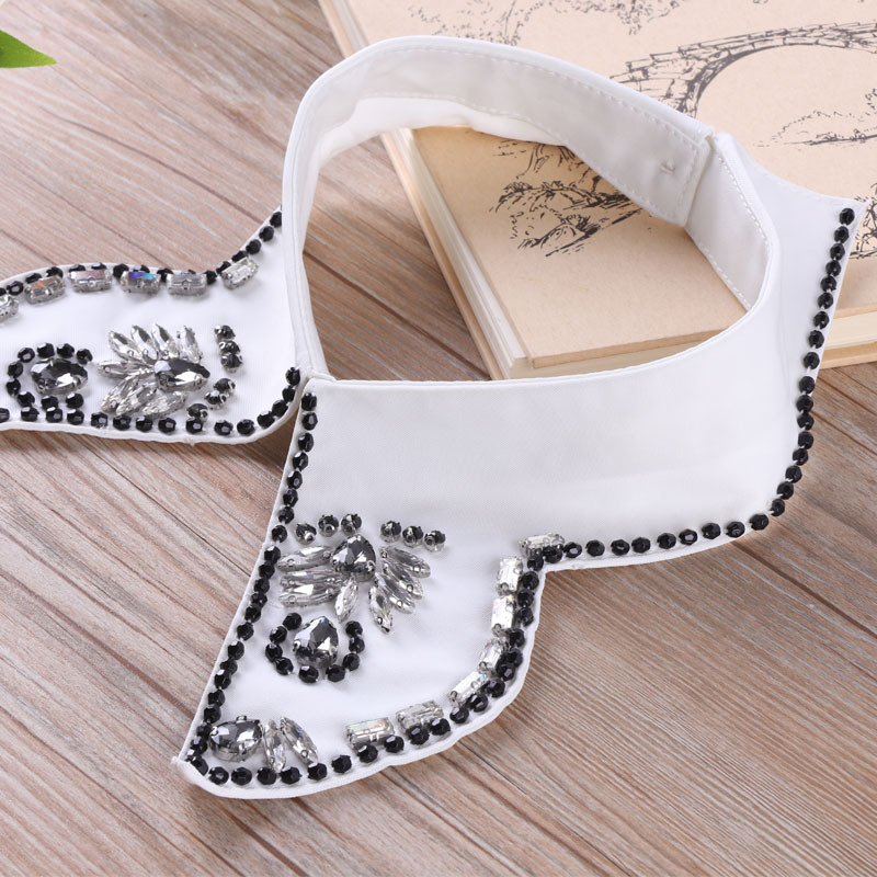 New Style Saving Collar Retro Hand Nail Bead Fake Collar Acrylic Beading Decorative Lining Collar