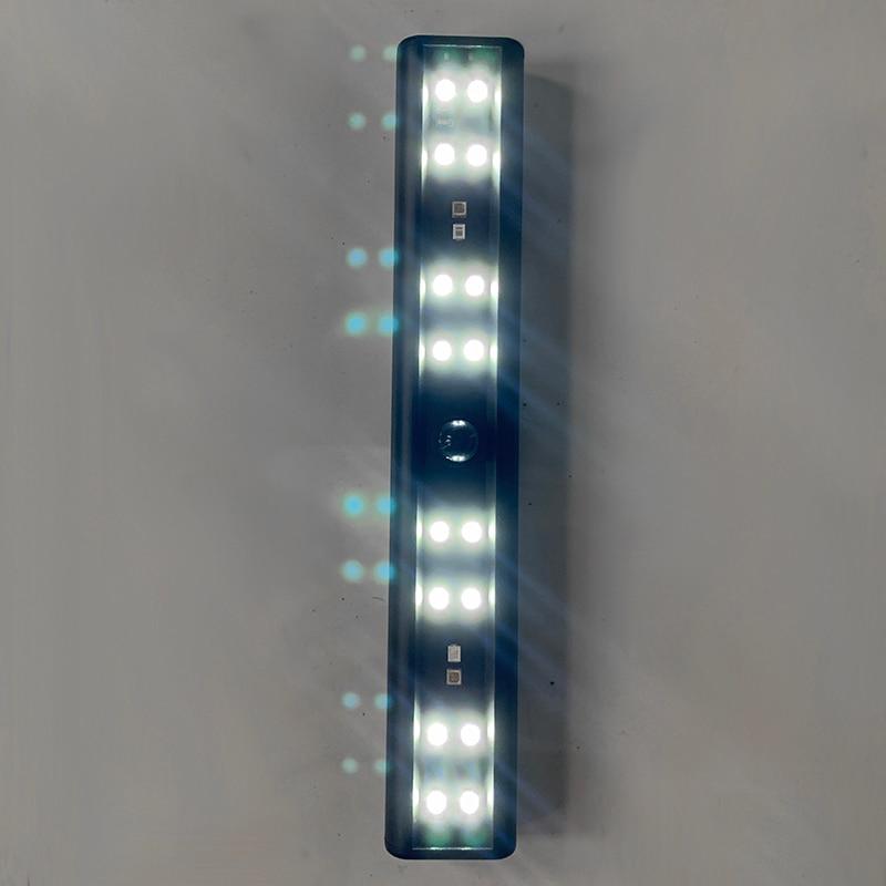 granulos recarregaveis da lampada da dobro fileira da luz de inducao humana do diodo emissor de