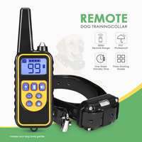 800m Electric Dog Training Collar Waterproof Rechargeable Dog Collar With Remote Control Receiver Pet Training Collar Dropship