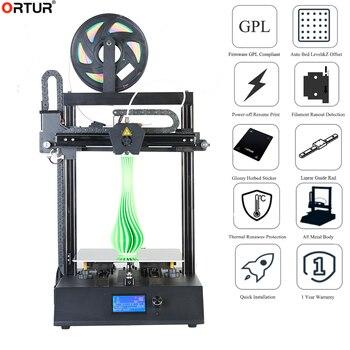 2020 Ortur4 3D Impresora marco de metal completo mejorada Industrial de alta precisión Impresora PLA 3d filamento Impresora para nuevos principiantes