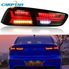 цена на Car Styling Taillight Tail Lights For Mitsubishi Lancer 10 EVO x Rear Lamp DRL + Dynamic Turn Signal + Reverse + Brake LED Light