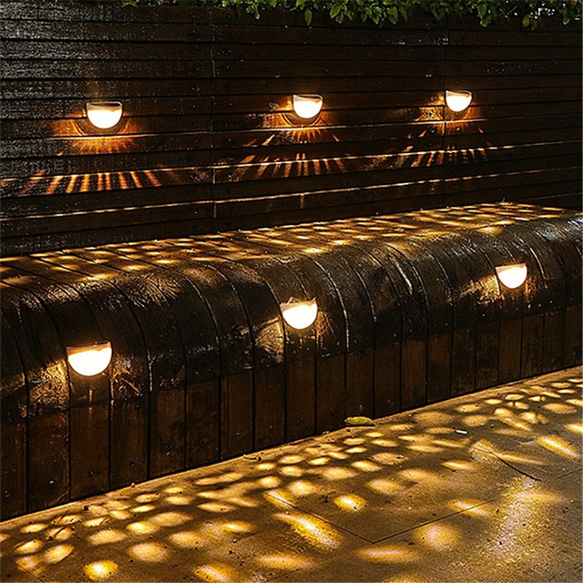Led solar lights outdoor lighting garden decoration yard fence lamp waterproof sensor wall lamp energy saving street night light