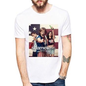 T-shirt męski bezwstydny męski Tee serial telewizyjny Lip Carl Frank Fiona Gallaghers S L XL koszule Homme nowość t-shirty męskie