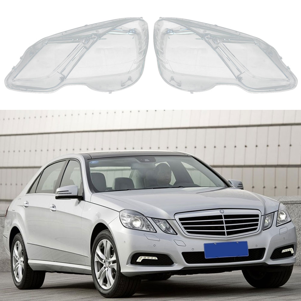 Headlamps Transparent Lampshades Lamp Shell Masks Front Left/Right Headlights Lens Cover for Mercedes-Benz W212 2009-2014