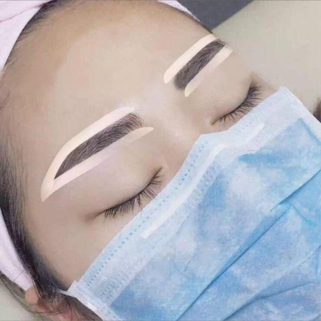 6Pairs Professinal Fashion Disposable Eyebrow Tattoo Shaping Sticker Auxiliary Template Brow Stencil Eye Grooming Makeup Tools