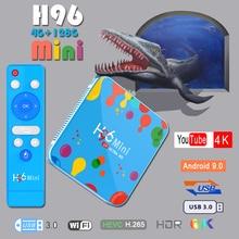 Set top box Tv-Box Youtube 4K H96mini Quad-Core 6K Allwinner H6 128GB Android 9.0 Box tv Media-Player 3d-Iptv Bluetooth smart tv стоимость