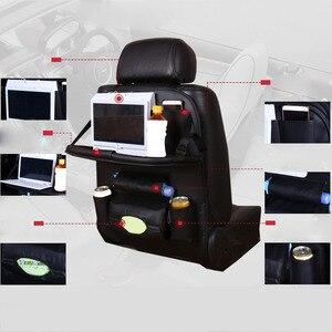 Image 2 - Car Back Seat Storage Bag Water Bottle Magazine Food Phone Automobile Organizer Cars Backseat Multi Pocket Holder