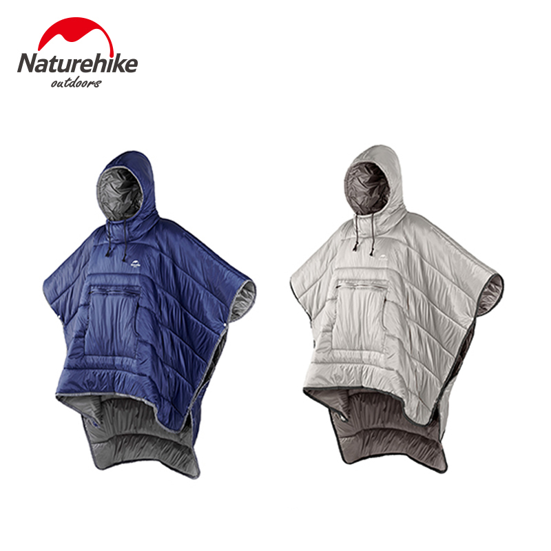 Naturehike Portable Quilt Warm Cotton Sleeping Bag Outdoor Camping Travel Men Women Wearable Water resistant Cloak-in Sleeping Bags from Sports & Entertainment    1
