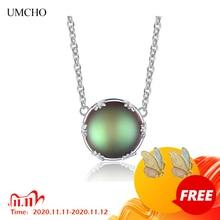 UMCHO أورورا بورياليس قلادة قلادة 925 فضة مجوهرات أنيقة للنساء أعياد الميلاد رومانسية هدية لفتاة صديق