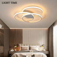 Round Circle Led Ceiling Light For Bedroom Living room Kitchen Corridor Black White Home Lighting Ceiling Lamp Remote Control