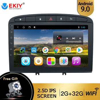 EKIY 9'' IPS Android 9.0 Car Radio For Peugeot 408 For Peugeot 308 308SW Multimedia Stereo Car DVD Player Navigation GPS Radio image