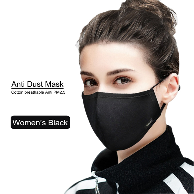 korean Cotton PM2.5 Anti Haze Mask Anti dust mouth mask Activated Carbon Filter Mouth-muffle Mask Unisex maska Fabric Face Mask 1