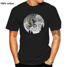 T-shirt homme, humoristique Et bleu, avec l'image de la science-fiction, de lune, de Bmx, de Mashup, de Star de la mort