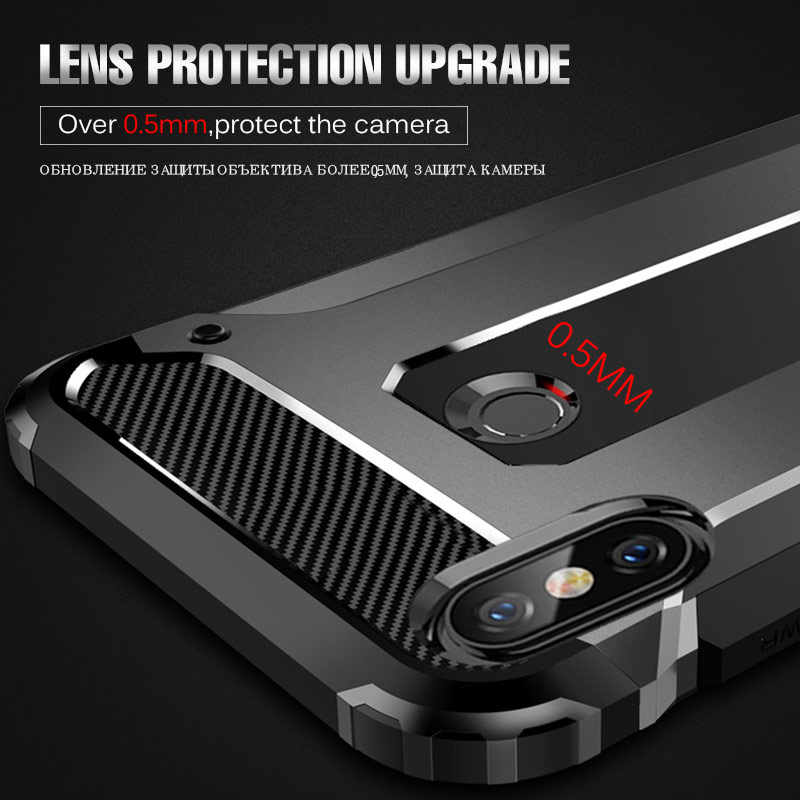 Fundas de teléfono de silicona de lujo a prueba de golpes en El para Xiaomi Redmi Note 7 6 4 5A Pro Armor Bumper Cover para Redmi 7 6A 4X Soft Case