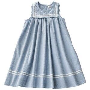 Image 3 - 新 2020 ガールプレッピースタイルのセーラー襟プリンセスドレス幼児レジャーベストドレス素敵な、 #5157
