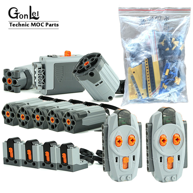 Technic MOC 0853 Power Function Motors Set for Ultimate <font><b>42009</b></font> 20004 Mobile Crane Mk II Car Building Blocks Model Bricks Toys image