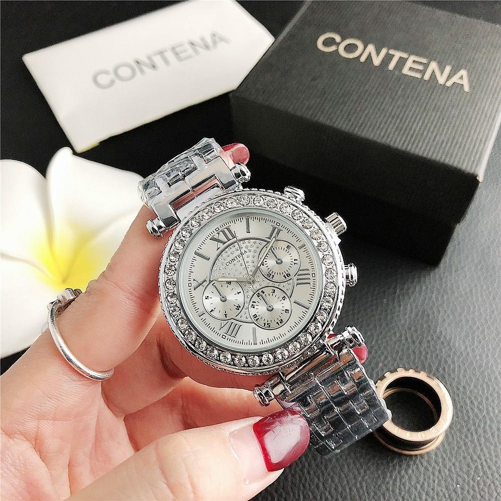 6599SJ     New Fashion Diamond Small Dial Watch Three-eye Dial Ladies Wholesale Factory