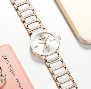 Image 2 - Luxury Women Watches TEVISE Top Fashion Brand Stainless Steel Waterproof Watch Woman Dress Quartz Wrist Watches Relogio Feminino