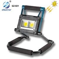 Super brillo Solar portátiles linterna luz de trabajo LED reflector impermeable linterna plegable con imán potente larga vida
