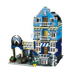 15007 Factory City Street European Market Model Compatible 10190 Building Toys Educational Building Blocks Kids