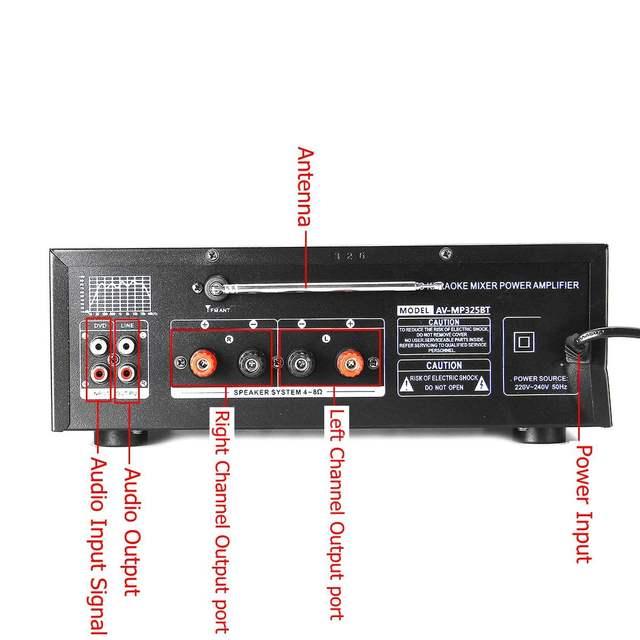 110/220V 2000W USB SD AMP FM DVD AUX   3