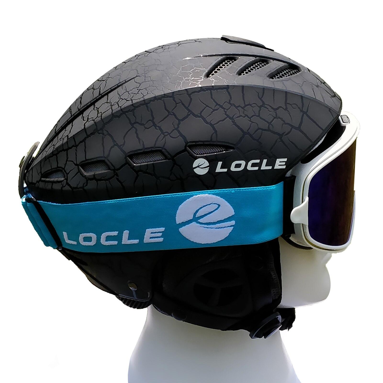 LOCLE Men or Women Ski Helmet Ultralight Skiing Helmet CE Certification ABS+EPS Snow Skateboard Ski Snowboard Helmet 55-61cm