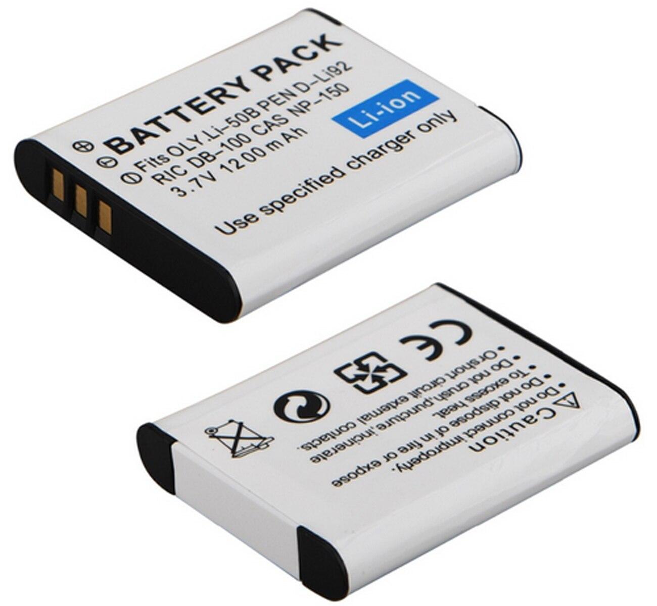 Batería para PENTAX OPTIO WG2 WG-2 W G 2