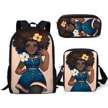 HaoYun Primary School Kids Backpacks African Girls Prints Pattern Bags Afro Arts Designer Students 3PC/Set Book