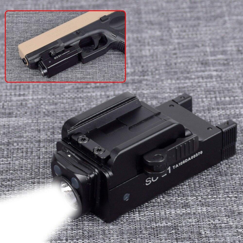 18c 19 22 20mm trilho pistola de luz da pistola airsoft luz