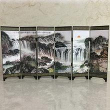 Divisor de pared con pantalla de partición, calcomanía artística para cocina, sala de estar, hogar, Retro, madera