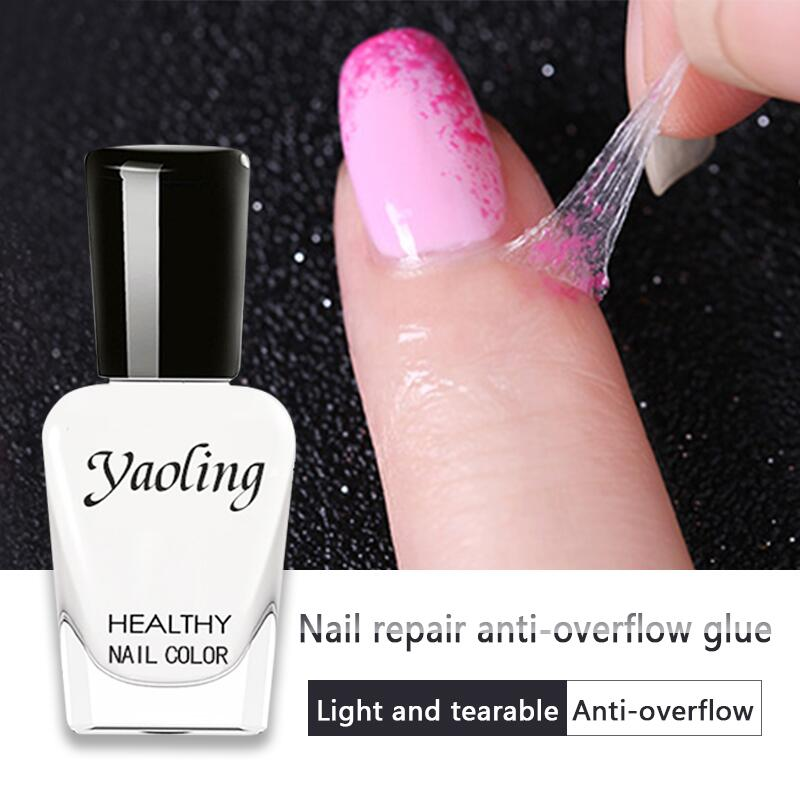 8ml/bottle Nail Anti-overflow Nail Glue Anti-freezing Peel Off Liquid Tape DIY Nail Art Accessories Nail Paste Adhesive Tool