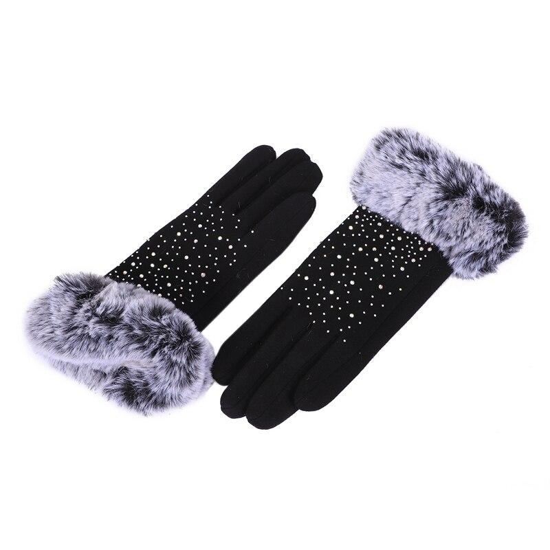 Gloves, Women Winter Outdoor Sports Gloves Touch Screen Warm Gloves (black)