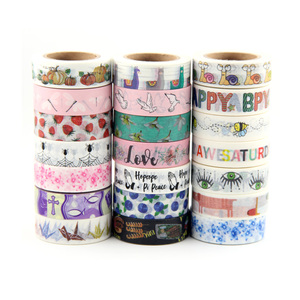 Image 1 - Top sales Fresh Floral, cute animal design Washi Tape Strawberry Sticky Adhesive Tape Various Patterns Masking Tape