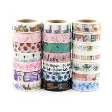 Top verkäufe Frische Floral, nette tier design Washi Band Erdbeere Sticky Klebeband Verschiedene Muster Masking Tape